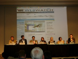 Travel Industry Panel (l to r: Barth, Hafner, Khan, Rosner, Tarka, Weber, Weinsheimer)