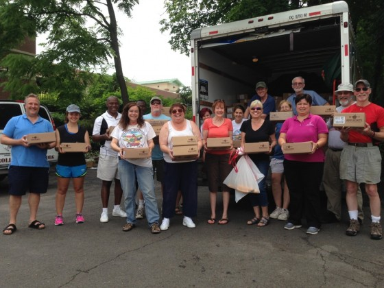 "Volunteers with the Bucks County Opportunity Council pick up thousands of pounds of donated meat from Applegate and takes it to local food pantries for distribution to those in need.  ""The money we saved by not having to buy meats, a very expensive product for food pantries to try to provide, will now be able to go to meet other pressing needs. It's going to be a good holiday for our folks."""