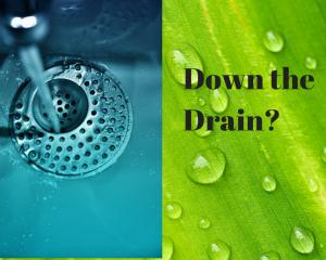 water down the drain energy saving