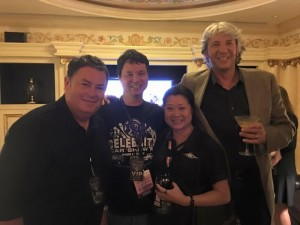Curtis and some of his industry contacts (Sue Martin from the Discovery Channel's Fast N' Loud and Misfit Garage, and Mike Brewer and Edd China from Velocity Channel's Wheeler Dealers); these are the folks disrupted when Curtis gets a robocall.